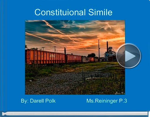 Book titled 'Constituional Simile'