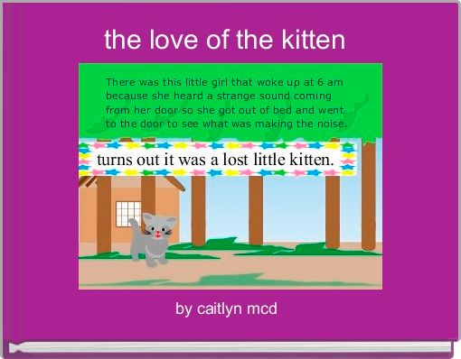 the love of the kitten