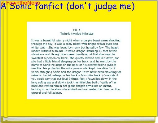 A Sonic fanfict (don't judge me)