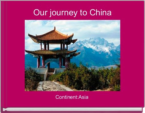 Our journey to China