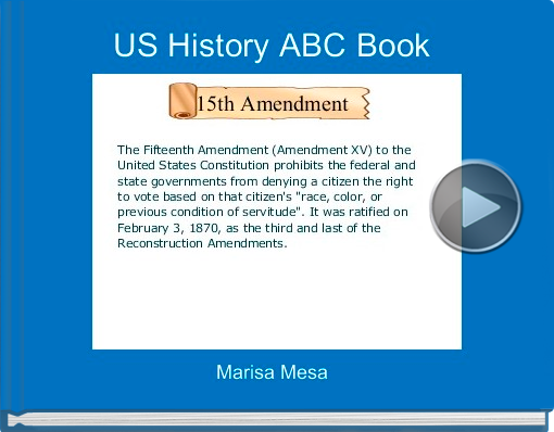 Book titled 'US History ABC Book'