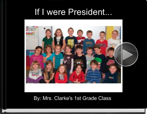Book titled 'If I were President...'