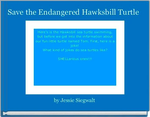 Save the Endangered Hawksbill Turtle