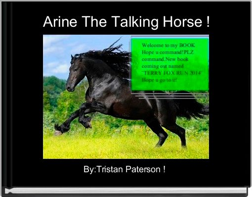 Arine The Talking Horse !