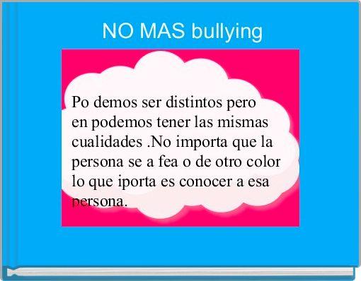 NO MAS bullying