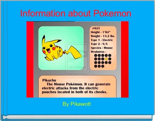 Information about Pokemon