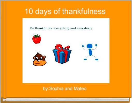 10 days of thankfulness