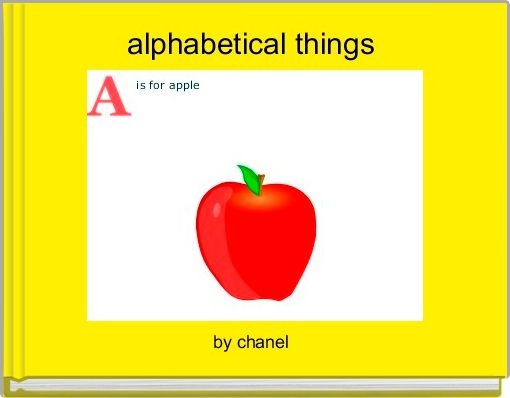 alphabetical things