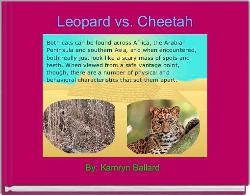 Leopard vs. Cheetah