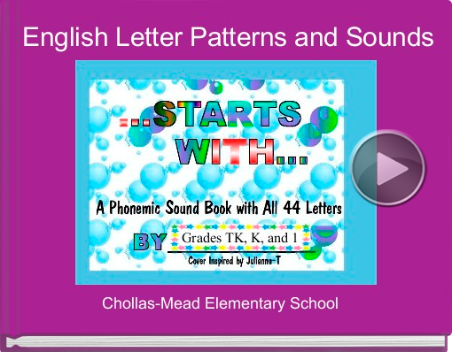 Book titled 'English Letter Patterns and Sounds'
