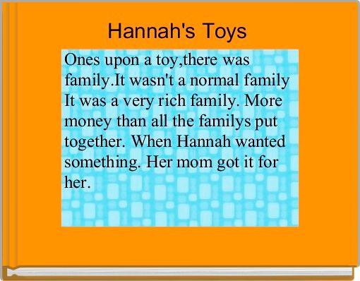 Hannah's Toys