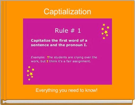 Captialization