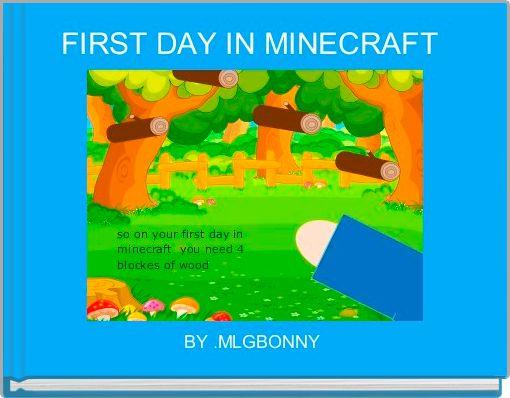 FIRST DAY IN MINECRAFT