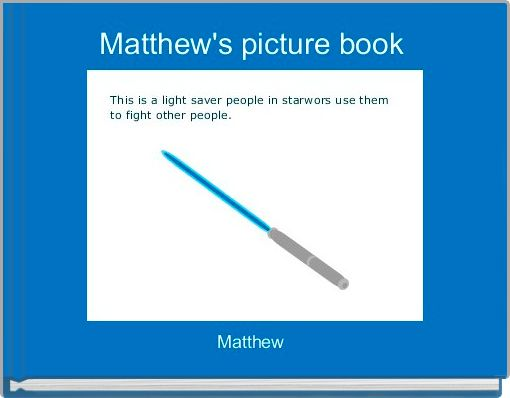 Matthew's picture book