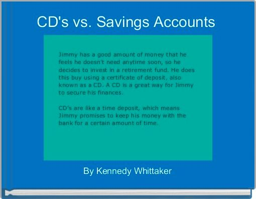 CD's vs. Savings Accounts