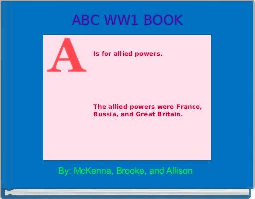 ABC WW1 BOOK