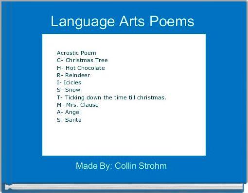 Language Arts Poems