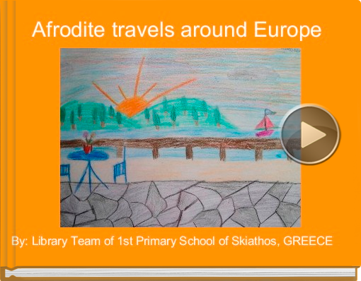 Book titled 'Afrodite travels around Europe'