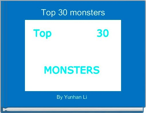 Top 30 monsters