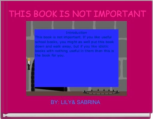 THIS BOOK IS NOT IMPORTANT