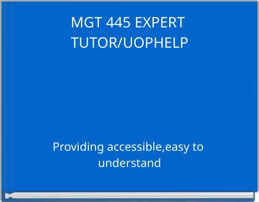 Mgt 445