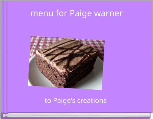 menu for Paige warner