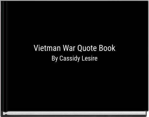 Vietman War Quote Book