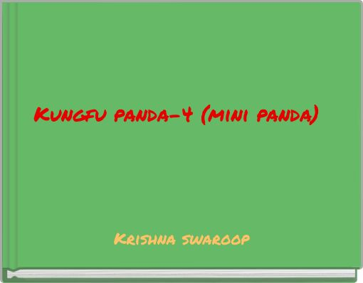 Kungfu panda-4 (mini panda)