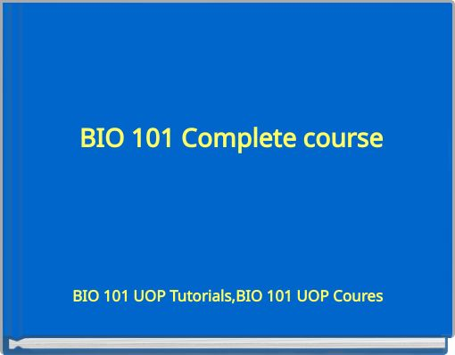 bio 101 entire course Learn quiz biology 101 with free interactive flashcards choose from 500 different sets of quiz biology 101 flashcards on quizlet  entire array of organisms.
