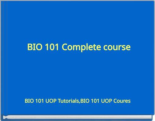 Bios 135 entire course