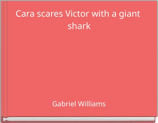 Cara scares Victor with a giant shark