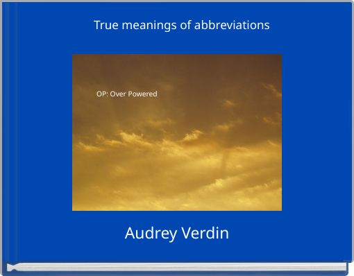 True meanings of abbreviations