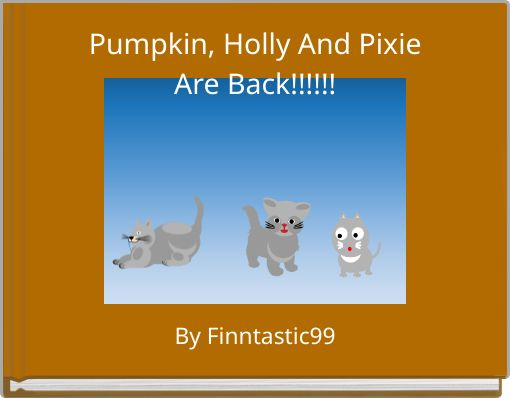 Pumpkin, Holly And PixieAre Back!!!!!!