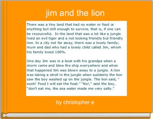 jim and the lion