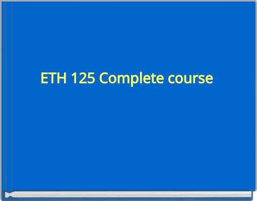 Help me understand this ETH125!?