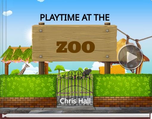 Book titled 'PLAYTIME AT THE ZOO'