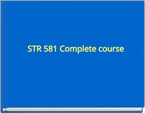 str 581 week 6 team assignment View homework help - str 581 week 6 individual assignment strategic plan  and presentation from str 581 at grand canyon university running head:.
