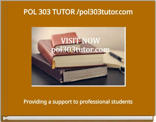 POL 303 Week 3 Assignment Final Research Paper Outline
