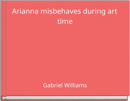 Arianna misbehaves during art time