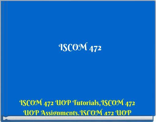 ISCOM 472 Lean Enterprise