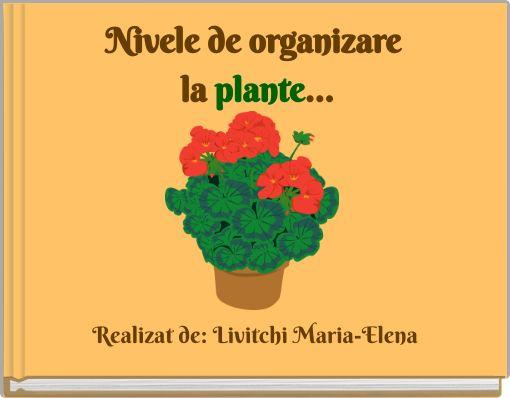 Nivele de organizare la plante...
