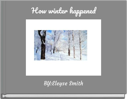 How winter happened