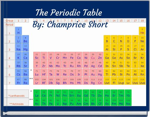 The Periodic Table By: Champrice Short