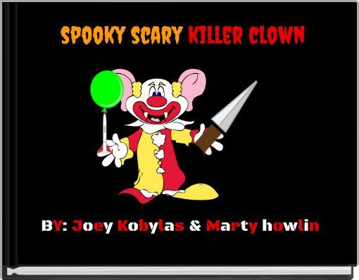 spooky scary killer clown