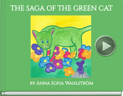 Book titled 'THE SAGA OF THE GREEN CAT'