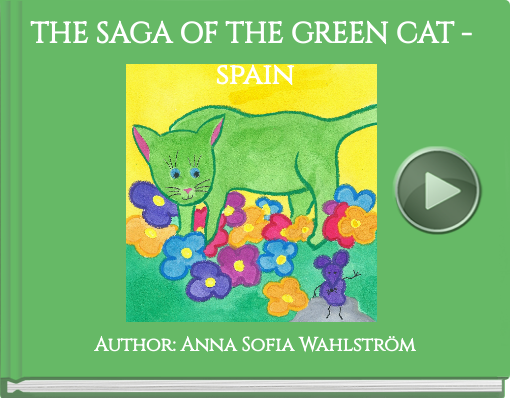 Book titled 'THE SAGA OF THE GREEN CAT - spain'