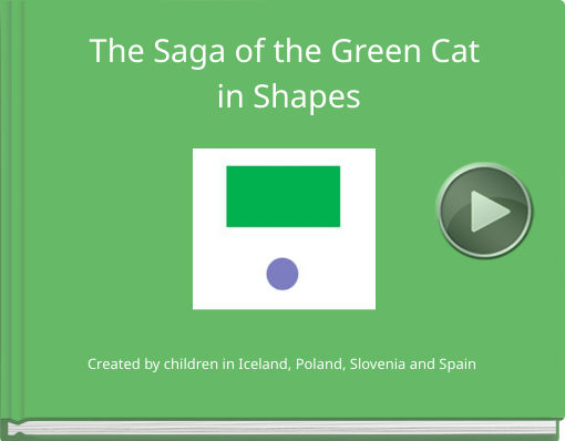 Book titled 'The Saga of the Green Cat in Shapes'