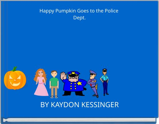 Happy Pumpkin Goes to the Police Dept.