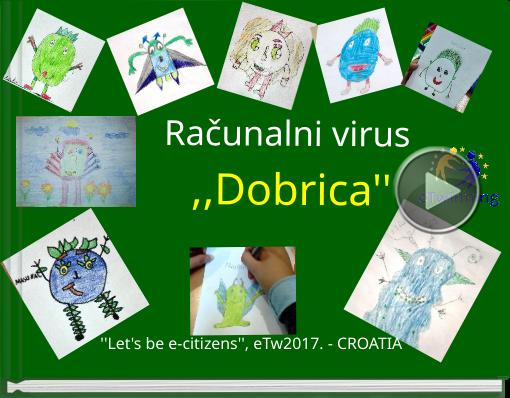 Book titled 'Računalni  virus ,,Dobrica'''