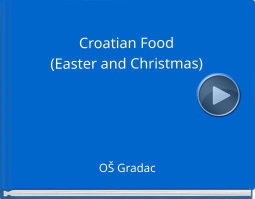 Book titled \'Croatian Food(Easter and Christmas)\'